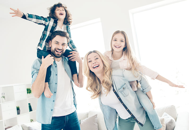 happy family in Norway